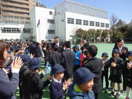 翔け 未来へ!!(区立小学校卒業式)