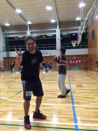母校バスケ部OB戦。(九段中等教育学校にて)