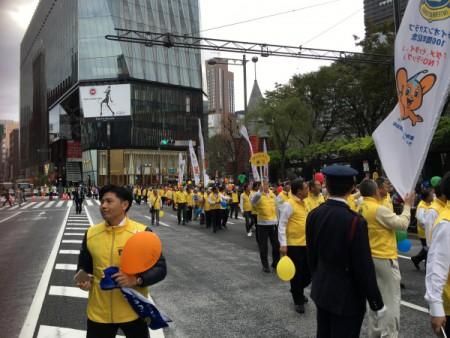 薬物乱用防止「大パレード」に参加!!(日比谷公園~銀座)