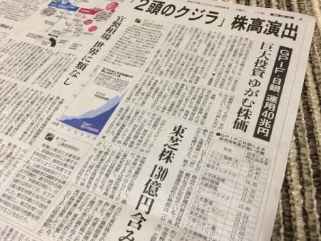 年金資産が大企業を下支え・・・!?(今朝の新聞報道から)