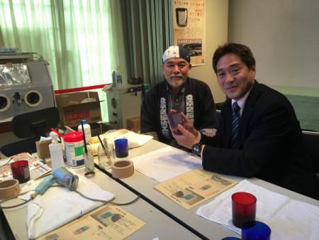 「切子グラス作り」を体験!!(ふれあい館にて・・・)